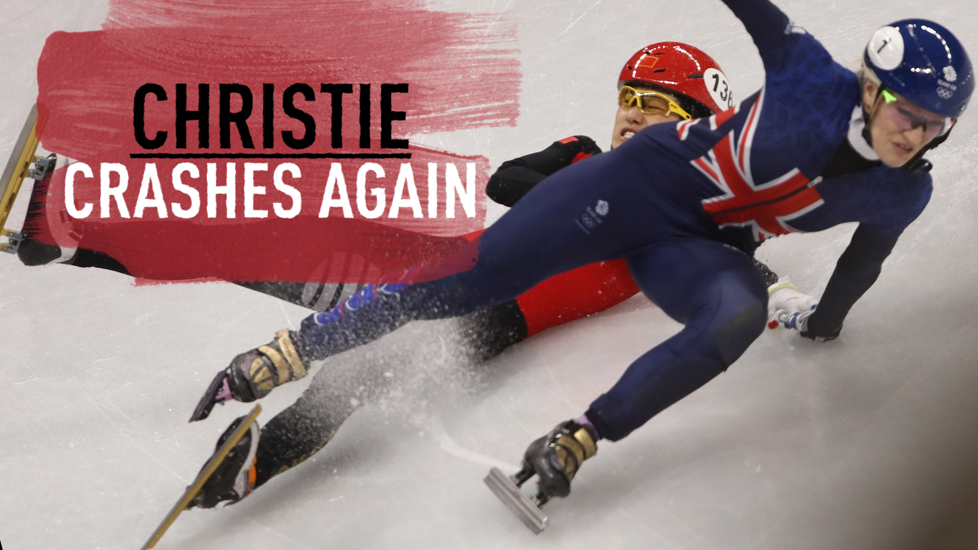 Watch: GB's Christie crashes out again