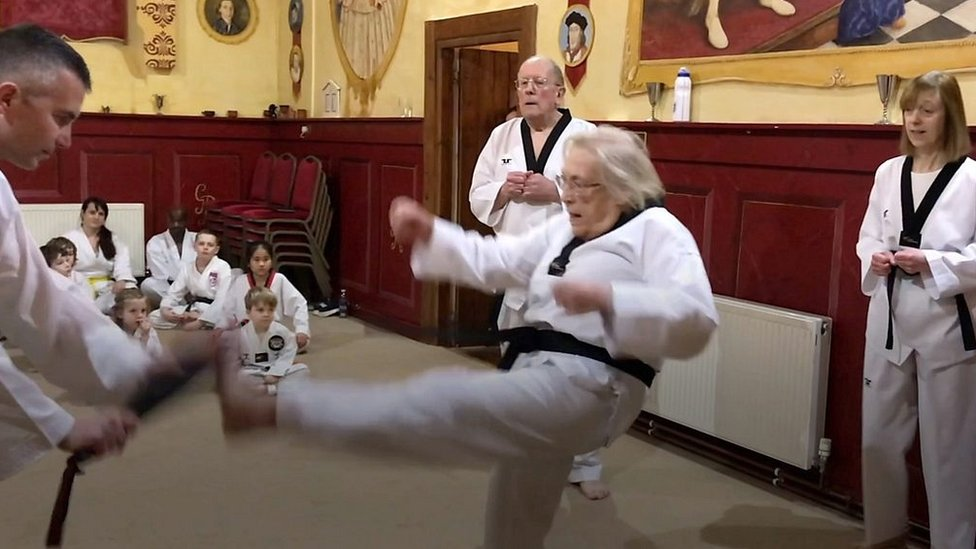 'I wanted a black belt at the age of 75'