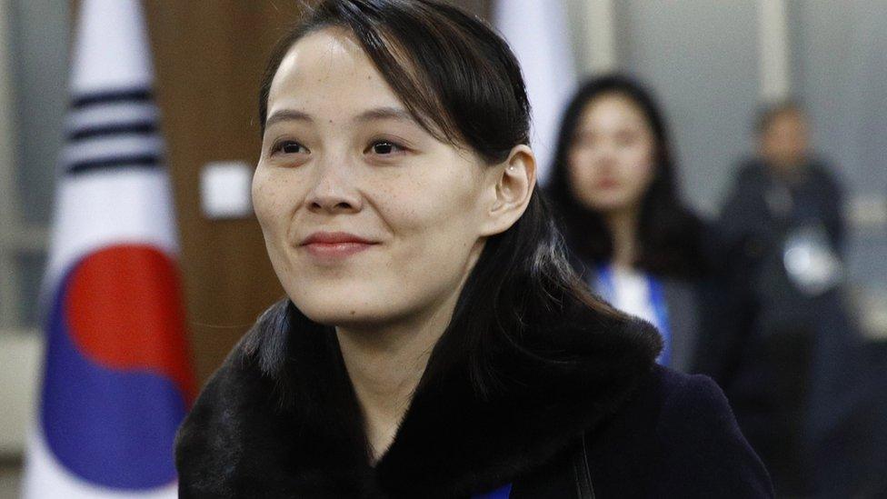 Kim Yo-jong encabezó la delegación norcoreana a los Juegos Olímpicos en el país vecino.