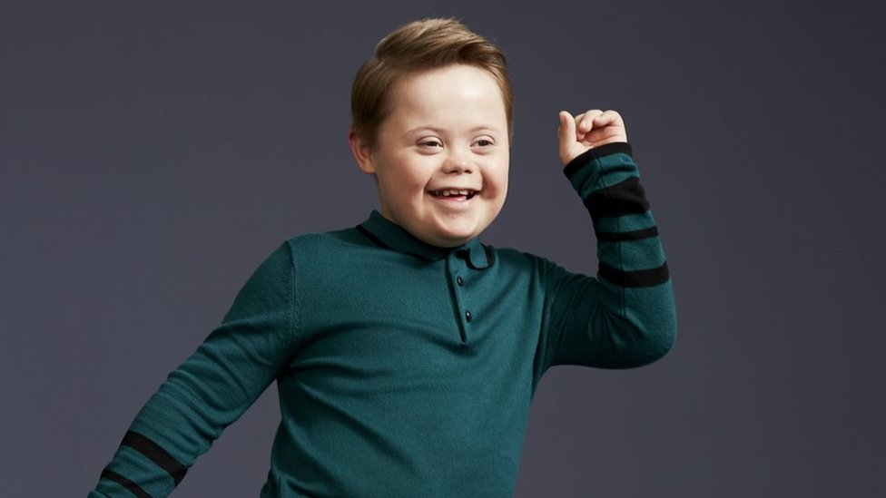 Modelling debut for boy, 11, with Down's syndrome