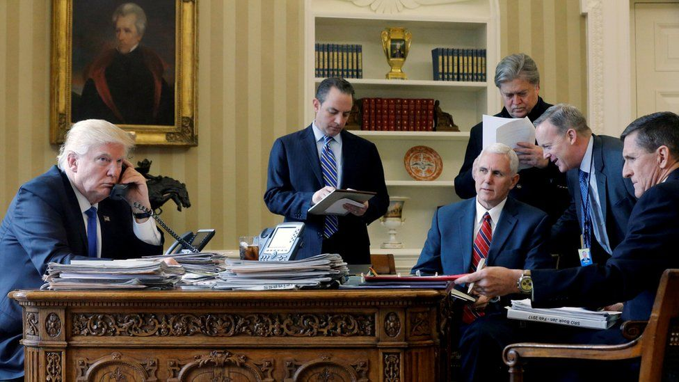 Trump y su gabinete