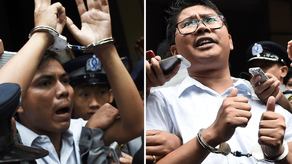 Myanmar journalists: Families urge Wa Lone and Kyaw Soe Oo release | BBC