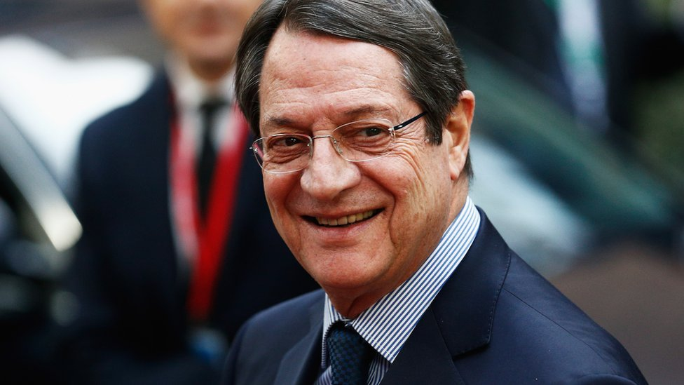 The president of Cyprus, Nicos Anastasiades