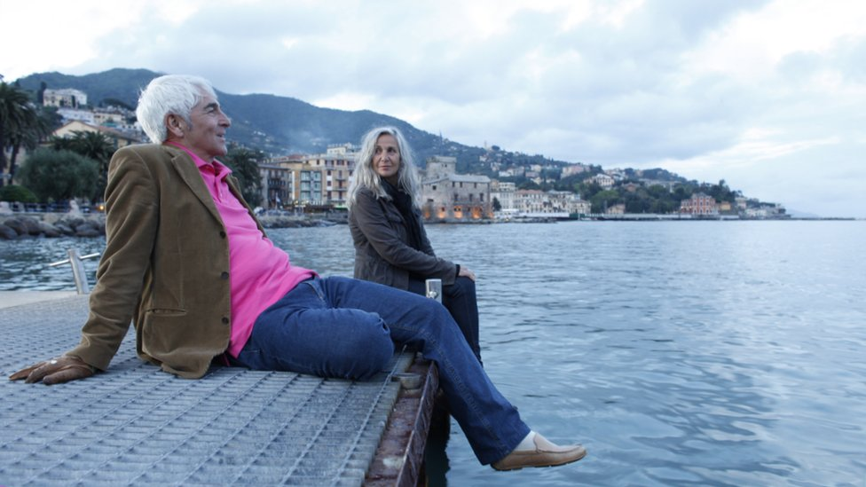 older couple in Italy