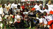 Kenya celebrate winning the 2013 Cecafa Senior Challenge Cup