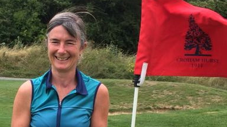 Amateur golfer hits three holes-in-one to defend club title - doubling her career total