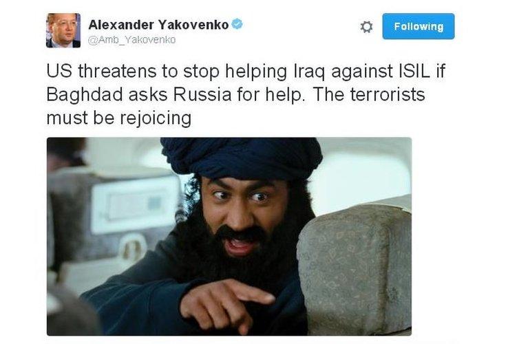 Ambassador's tweet with film pic