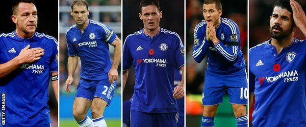 The performances of John Terry, Branislav Ivanovic, Nemanja Matic, Eden Hazard and Diego Costa have all been questioned this season