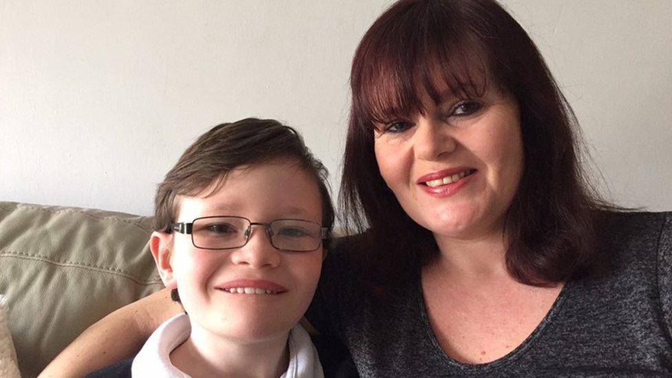 Deborah Guatieri, with her 10-year-old son Leon