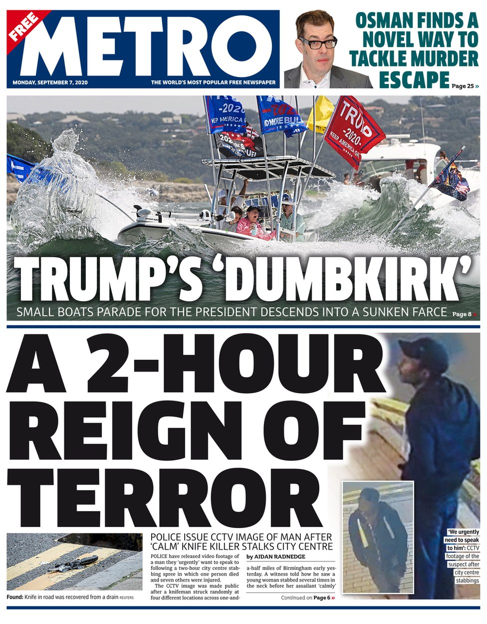 Metro front page, 7/9/20