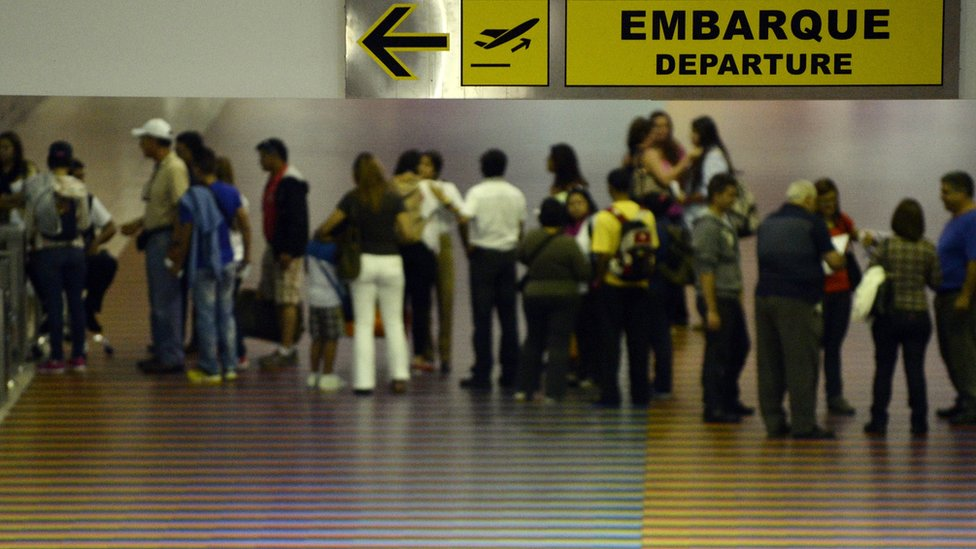 Aeropuerto de Maiquetía, cerca de Caracas.
