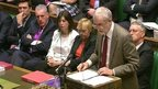 Jeremy Corbyn in the House of Commons.