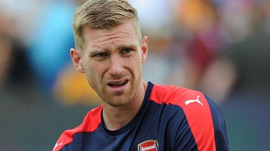 Arsenal's Mertesacker to miss start of Premier League season