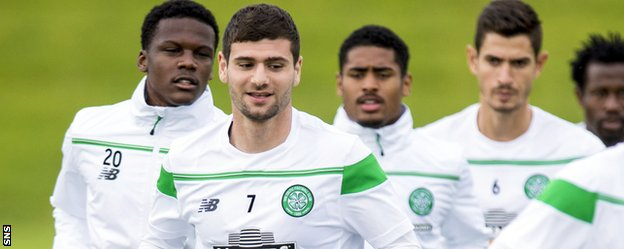 Nadir Ciftci in training with Celtic