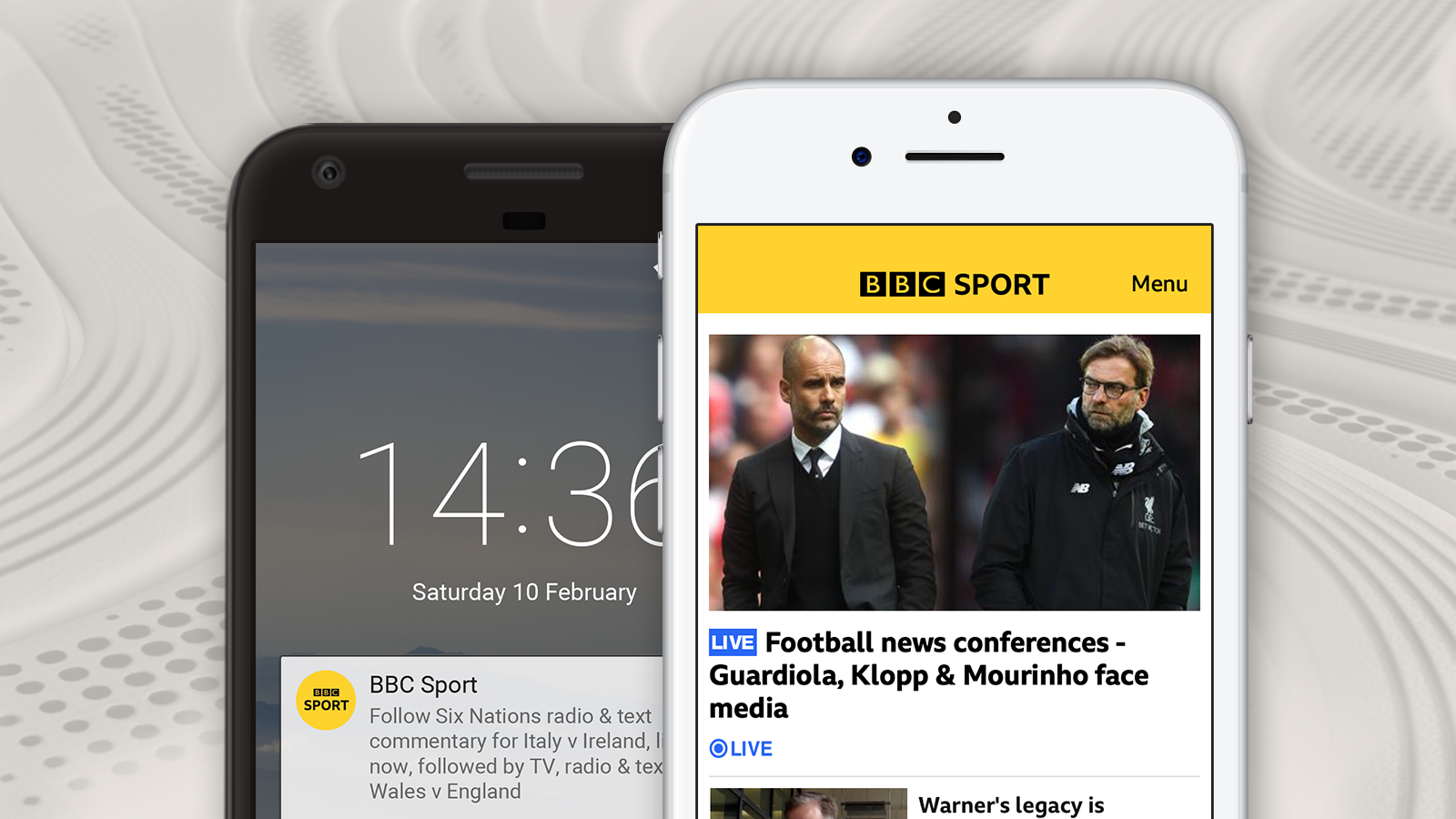Notifications, Live Guide, MySport and social media with BBC Sport