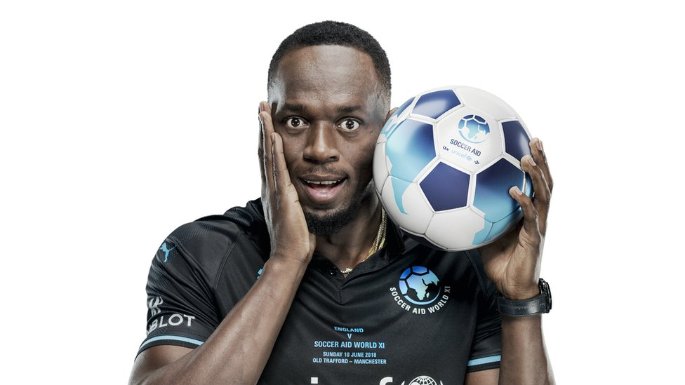 Bolt to play in Soccer Aid match at Old Trafford