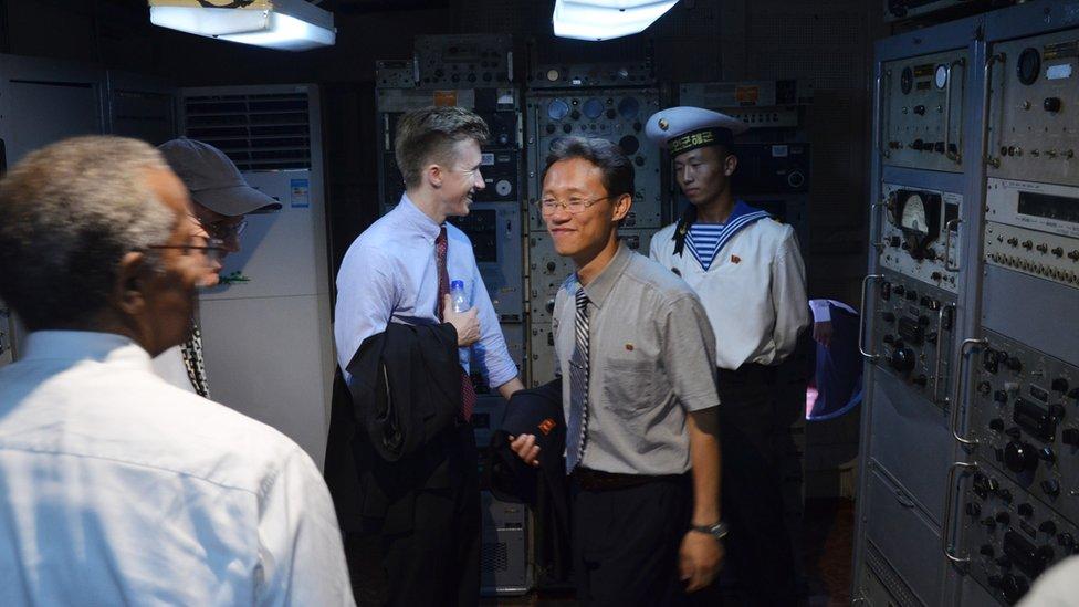 Una sala del USS Pueblo
