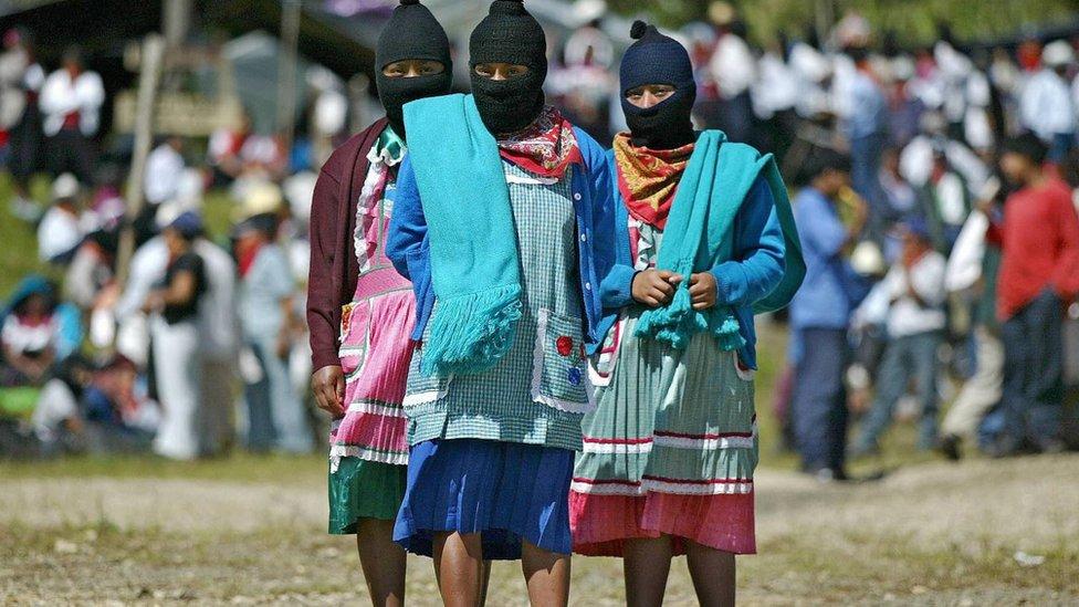 Indígenas en Chiapas