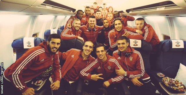 Southampton's victorious squad