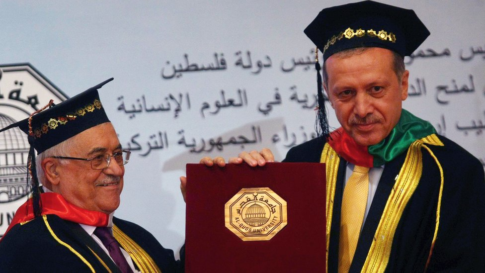 Turkey's President Erdogan getting an honorary degree