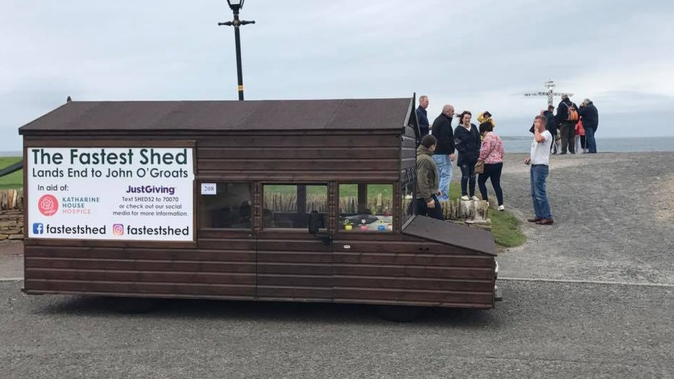 'Fastest shed' reaches John O'Groats after six-day trip