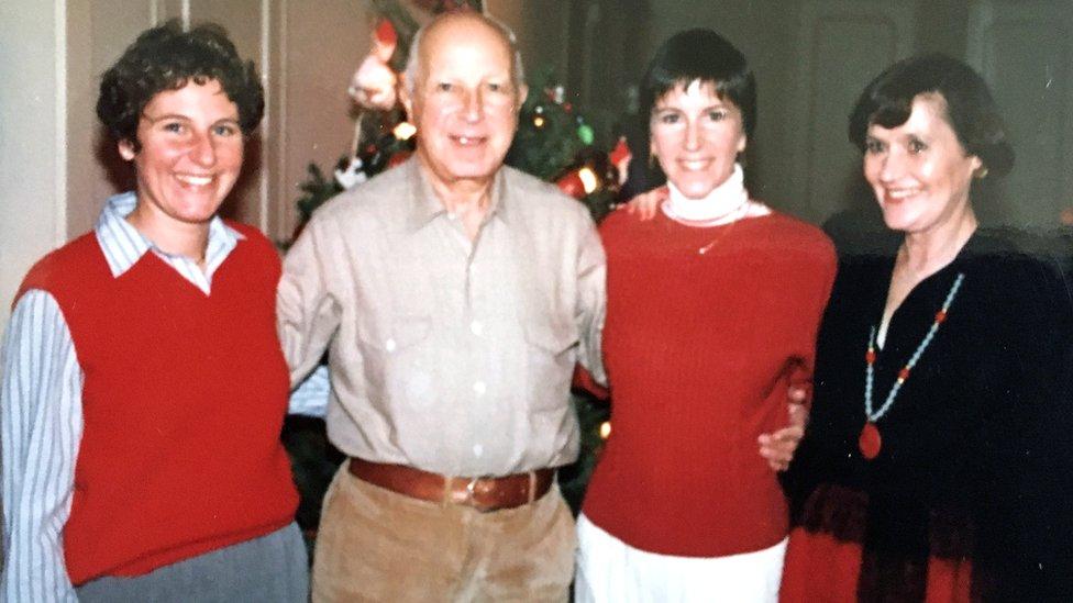 Меріенн Ґрей у колі сім'ї у 1976 чи 1977 році
