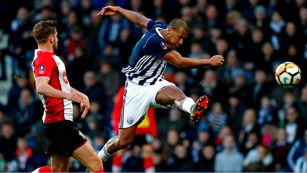 FA Cup: West Brom's Salomon Rondon nets sublime volley against Southampton