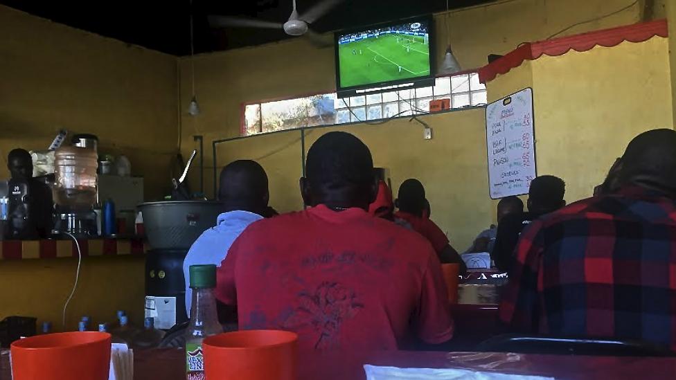 Labadee es un restaurante popular entre los haitianos que viven en Tijuana. (BBC Mundo/Beatriz Vernon)