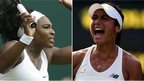 Serena Williams and Heather Watson