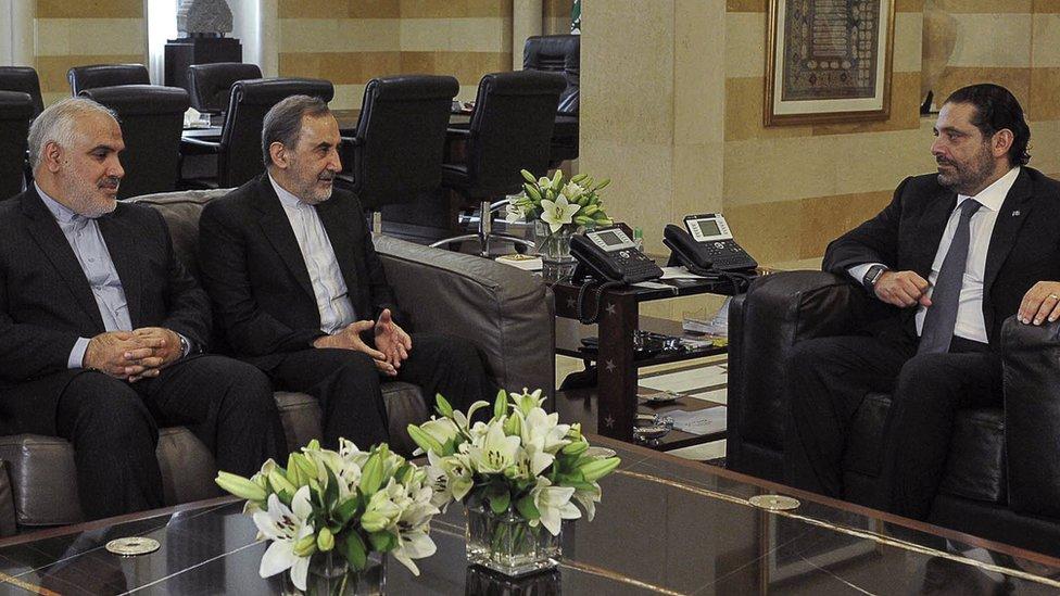 Hariri y Ali Akbar Velayati