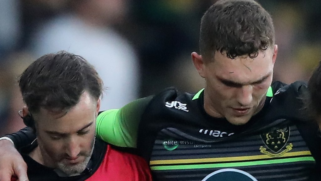 George North: Injured Northampton wing set to miss Wales autumn Tests
