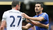 Damien Delaney and Diego Costa