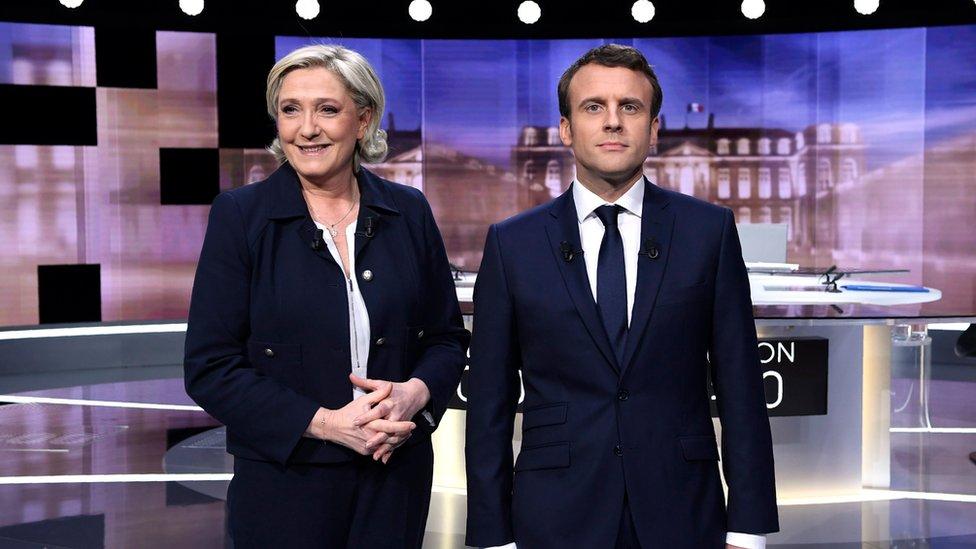 Макрон і Ле Пен