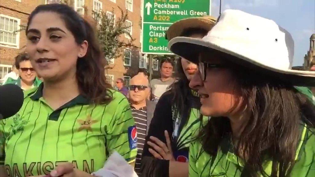 پاکستان کی فتح کے بعد اوول کرکٹ گرؤانڈ کے باہر شائقین کرکٹ کے تاثرات