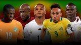 Yaya Touré, André Ayew, Yacine Brahimi, Pierre-Emerick Aubameyang and Sadio Mané.