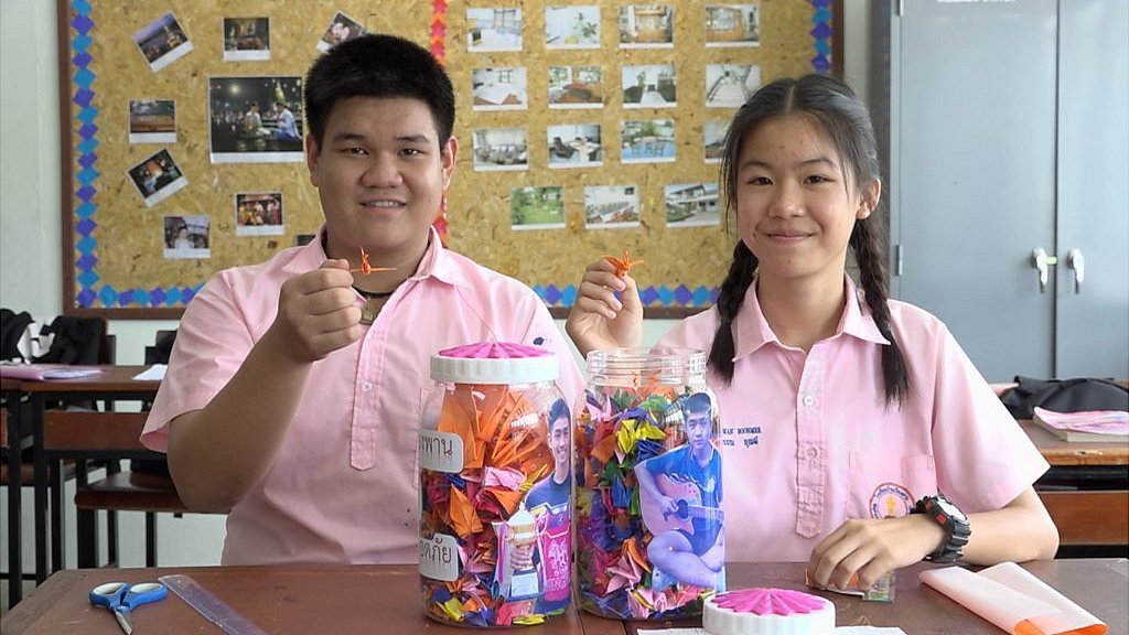 Thai cave rescue: Classmates' paper cranes of hope for Adul