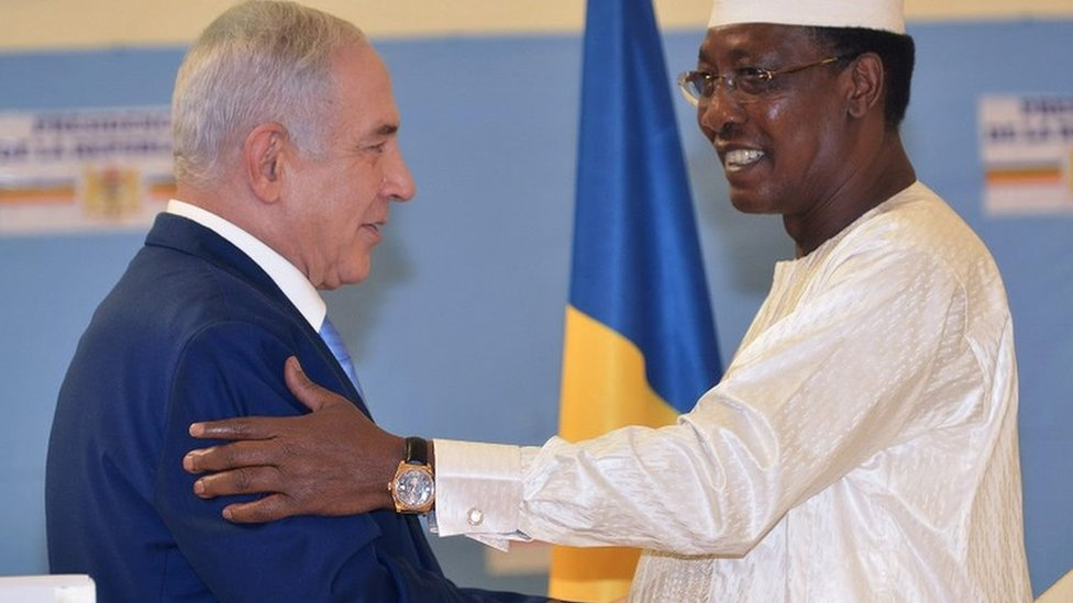 Israel's PM Netanyahu signs deals with Chad's President Deby