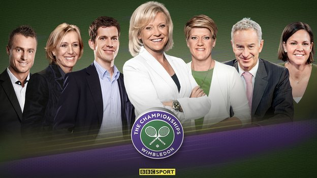 Sue Barker leads the BBC TV team at Wimbledon 2016