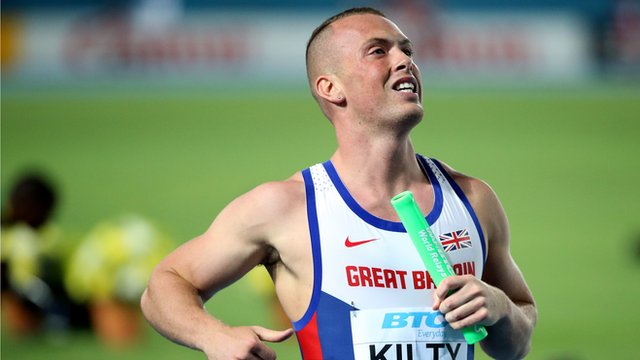 Great Britain win the men's 4x100m relay at European Team Championships