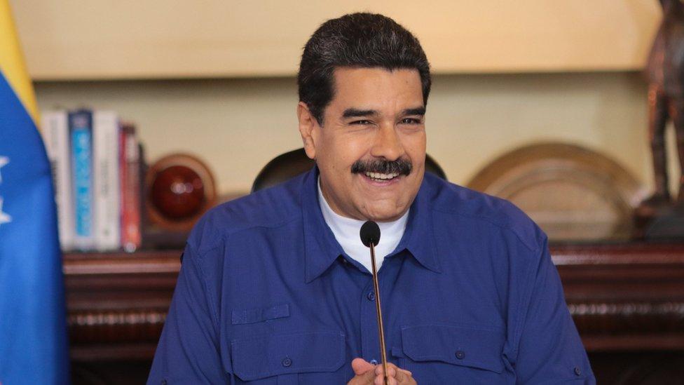 Nicolás Maduro en conferencia de prensa