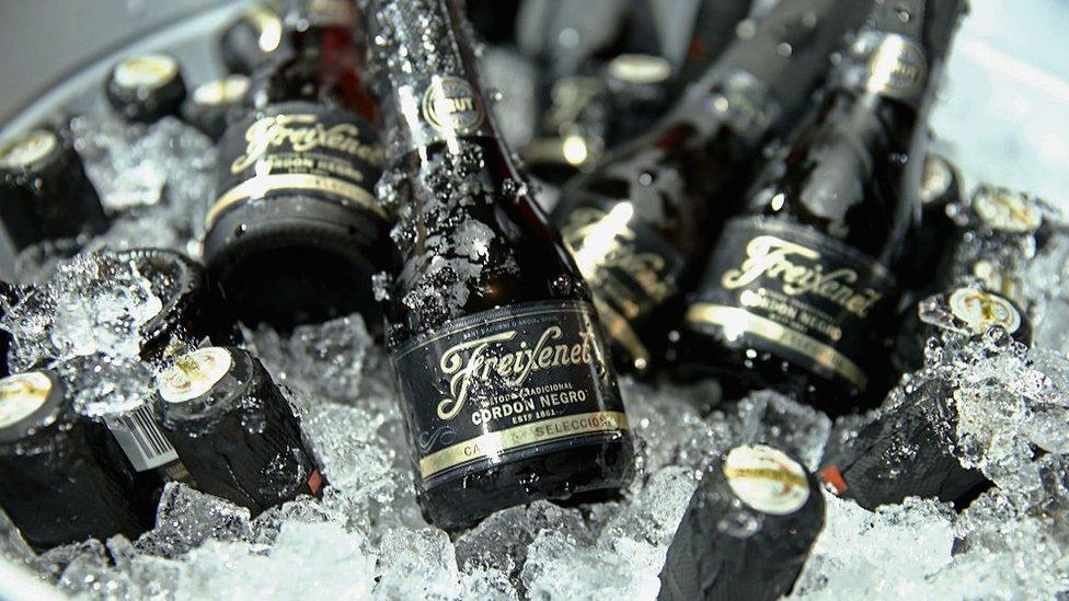 Botellas de Freixenet