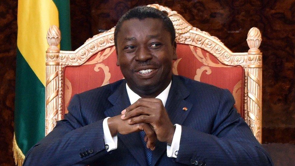 Togolese president Faure Gnassingbe Eyadema