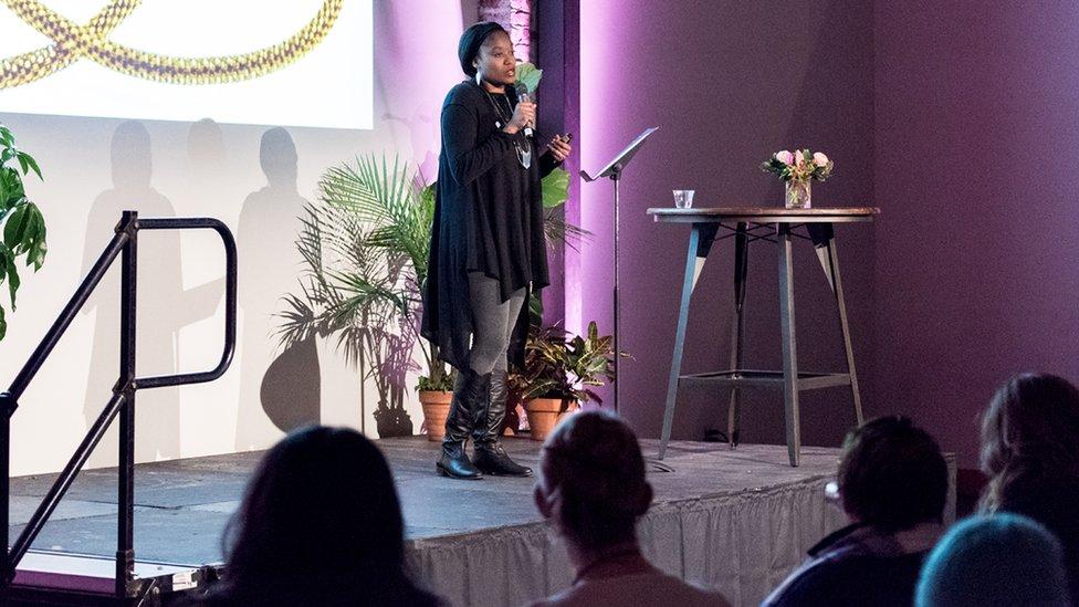 Aniyia Williams ha dado charlas sobre su propia experiencia emprendedora. (Foto: Ian J Whitmore).
