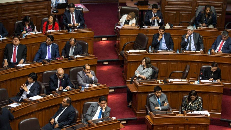 El Congreso del Perú.