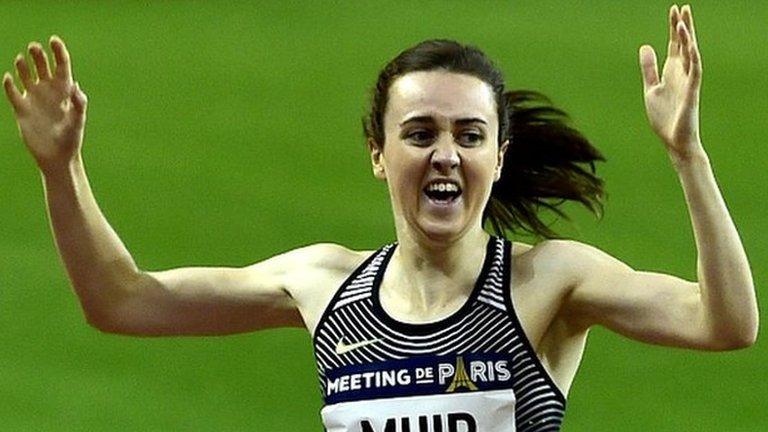 Diamond League: Laura Muir breaks British 1500m record in Paris