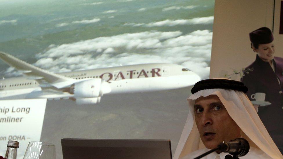 أكبر الباكر الرئيس التنفيذي للخطوط الجوية القطرية