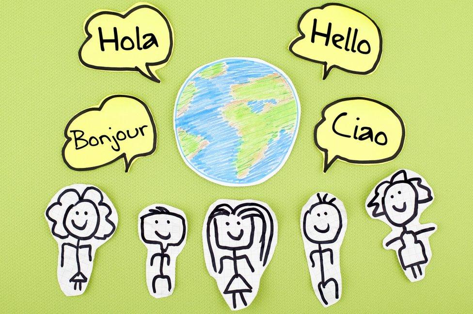 Hola en 4 idiomas