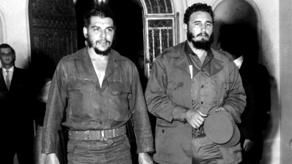 切·格瓦拉與古巴領導人卡斯特羅
