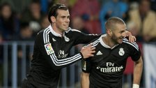 Real Madrid forwards Gareth Bale (left) and Karim Benzema