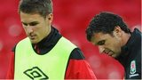 Aaron Ramsey (left) with Gary Speed